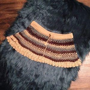 Crocheted Drawstring Skirt